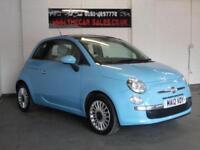 FIAT 500 1.2 LOUNGE 3d 69 BHP FULL SERVICE HISTORY (blue) 2012