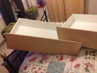 Under-bed storage drawers