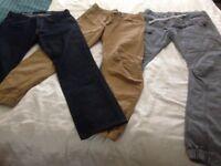 Jeans x3 pairs Gents waist 34