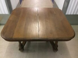 FRENCH OAK 19TH CENTURY HENRI II DINING TABLE / KITCHEN TABLE - £100