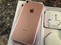 iPhone 7 rose gold 32gb brand new