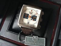 New Swiss Tag Heuer Monaco Chronograph Watch Brown