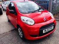 CITROEN C1 1.0 VT PETROL MANUAL 3 DOORS HATCHBACK RED 2010 LOW MILEAGE 79000 MILES