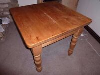 Solid Pine farmhouse Dining Table. 3' x 3'.