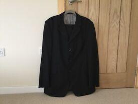 Karl Jackson black suit. 44L jacket and 37.5 waist trousers
