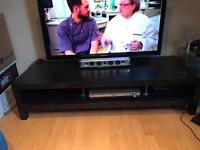 Large IKEA TV stand black/brown