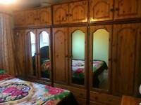 Pine wardrobe for sale excellent condition