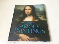 A hardbacked book of famous paintings