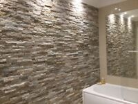 Stunning Oyster Sparkle Split Face Wall Tiles . 5 x boxes to cover 1.45m2 40% off at £40. Bargain!