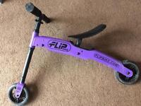 Balance bike.