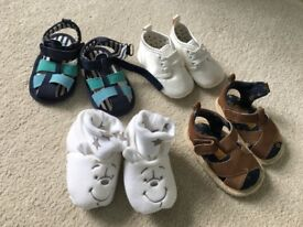 Baby Boys shoes 4 pairs
