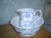FINE CHINA JUG AND BOWL PERFECT NEW CONDITION