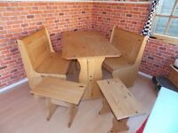 Puerto Rico Short BoothStyle Benchseats,Pine Table,2 single