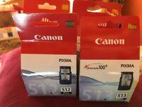 4 Canon inkjet cartridges