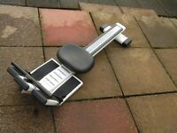 Home gym type rowing machine in full working order,with electronic calori and work rate counter.