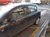 Vauxhall Corsa D Passengers Front door in Black 5 door Model Ring for more info 2009