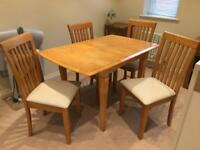 Leekes Extending Dining Table and 4 Chairs