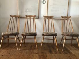 4 ercol dining chairs.