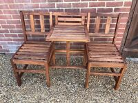 Brand new 2 seater garden bench w/ table
