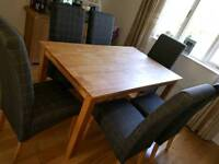 Recently purchased, high backed dining chairs