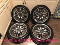 """17"""" Alloy Wheels 4x100 & 4x108"""
