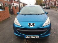 2007 Peugeot 207 1.4 Petrol Blue 3 Door Service History HPI Clear Warranted Miles For £499