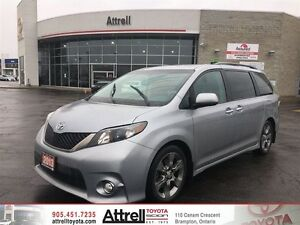2013 Toyota Sienna 5dr V6 SE 8-Pass FWD Cruise, Fog Lights, Moon