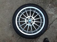 "BMW 5 series 7 series e38, e39 genuine 18"" alloy front with tyre 1091991"