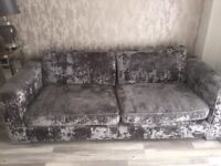 Crushed velvet couch & chair