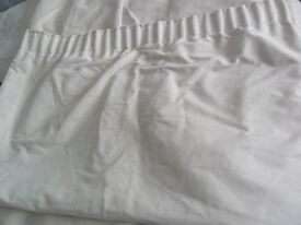 Cream suede effect lined curtains