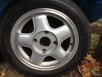 Set if four alloy wheels