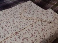 2 IKEA KING SIZE QUILT COVERS AND 8 MATCHING PILLOW CASES