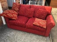 Red sofa bed can deliver.