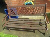 Garden bench needs tlc