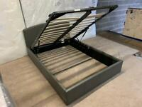 New Ottemon double grey leather bed frame