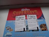 Two ticket for Thorpe Park