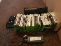 1x xbox 360 120gb Black with all leads, power adaptor & 30x Games