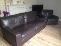 Marks & Spencer two seater settee with arm chair