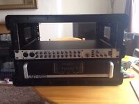 POWER AMP, MIXING DECK AND FLIGHT CASE