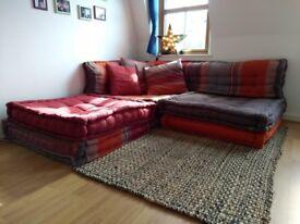 Corner Sofa - Maison du Monde - CANCUN - 6 seater cotton corner day bed, multicoloured