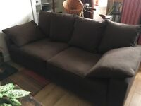2 x Collins and Hayes sofas in chocolate brown. Excellent condition.