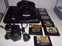 Megadrive console Plus 9 Games and 1 controller