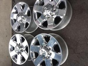 BRAND NEW TAKE OFF DODGE RAM 2500  FACTORY OEM 18 INCH ALLOY WHEEL SET OF FOUR.
