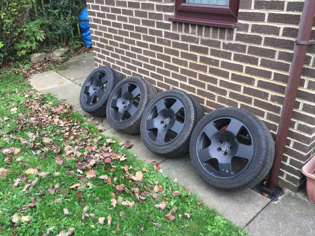 """Audi TT competition alloy wheels, Comps 5x100 17"""" good tyres"""