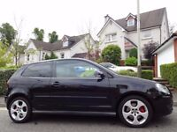 HIGHLY SOUGHT AFTER (2007) VW POLO GTi 1.8T 3dr BLACK ONE LADY OWNER/VERY LOW MILEAGE/FVWSH+INVOICES