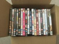 40 x DVDs - Half kids/Half adults