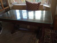 "Solid Oak Dining Table |(68"" x 33"" x 36""),"