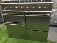 Stunning Lacanche Macon Range cooker stainless steel and chrome appliance oven