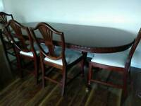 6 - 8 Seater Dining Set + 6 Chairs