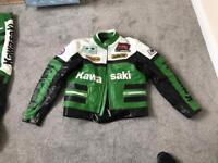 Kawasaki 2 piece leather medium suit
